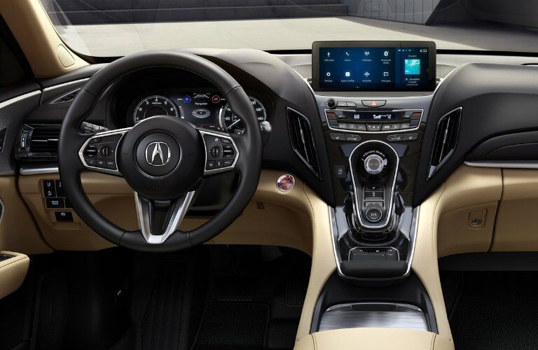Cockpit style interior of the 2019 Acura RDX