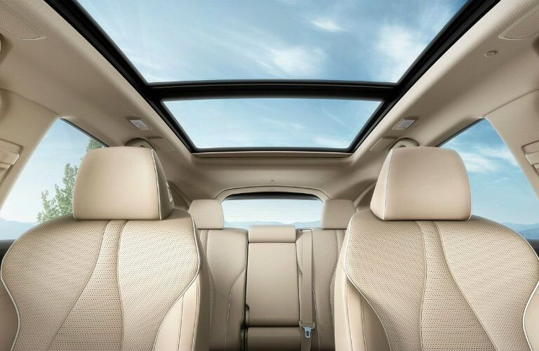 2019 Acura RDX interior view of panoramic moonroof