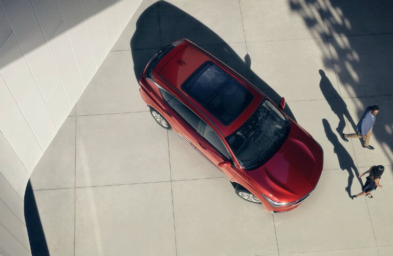A top-down, bird's eye view of the 2019 Acura RDX
