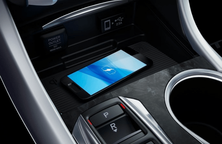 2019 Acura TLX Advance Package interior charging pad