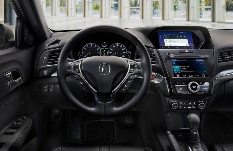 Steering wheel inside the 2020 Acura ILX