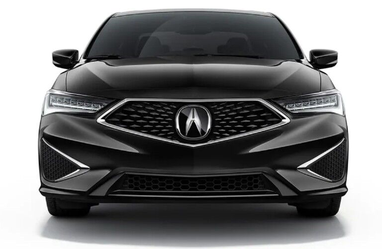Front angle of a black 2020 Acura ILX Technology Package