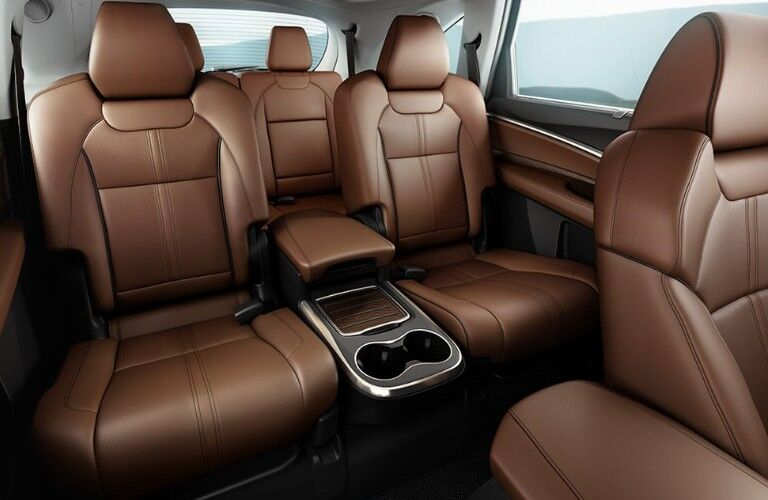 Captain's Chairs inside the 2020 Acura MDX Advance Package