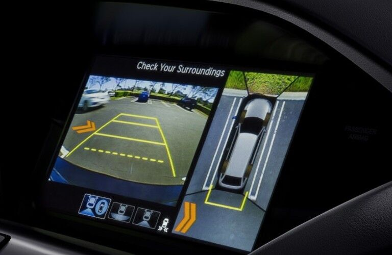 Close up of the surround-view camera inside the 2020 Acura MDX Advance Package