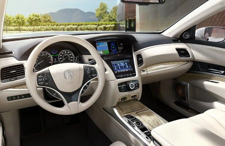 Front interior in the 2020 Acura RLX Advance Package