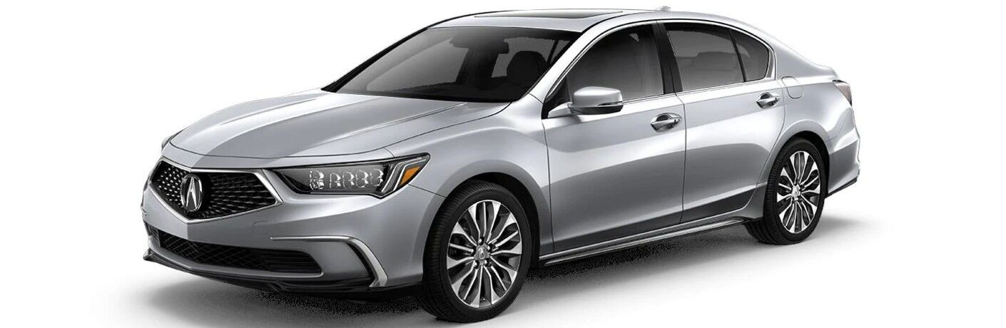 Front driver angle of a silver 2020 Acura RLX Technology Package
