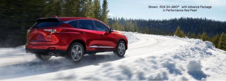 RDX SH-AWD with Advance Package in Performance Red Pearl