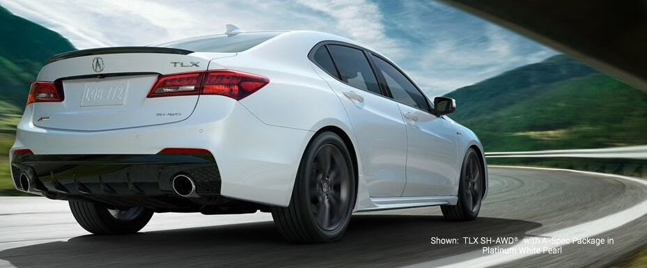 TLX with aspec package in platinum white pearl