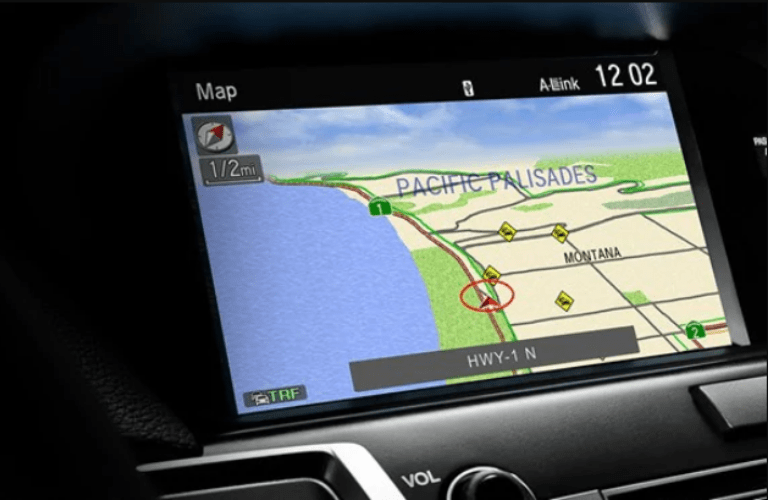 Close up of Acura Navigation System in 2020 Acura TLX Technology Package