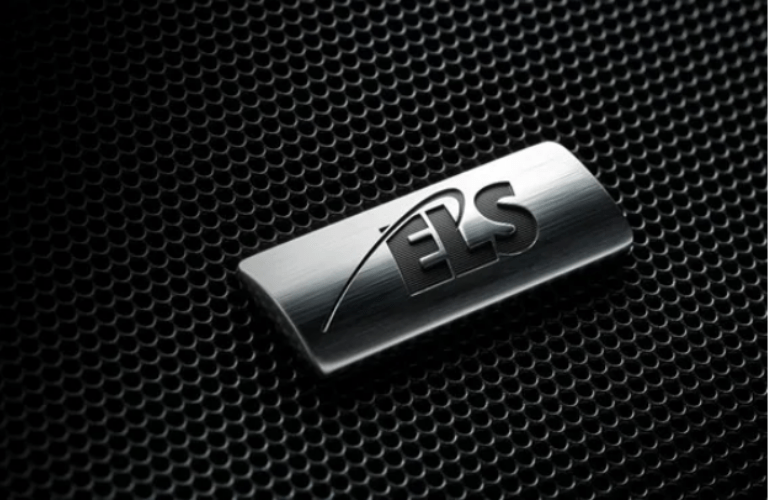 Close up of the ELS Studio logo on a speaker in the 2020 Acura TLX Technology Package