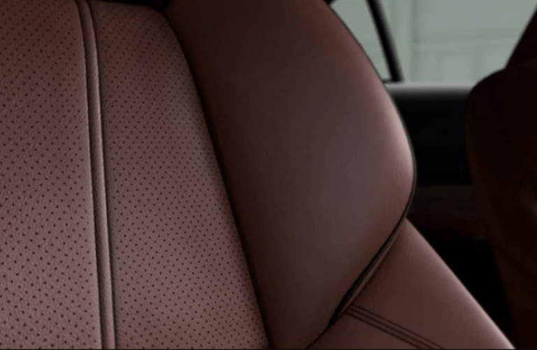 Close up of Milano leather seats in 2020 Acura TLX Technology Package