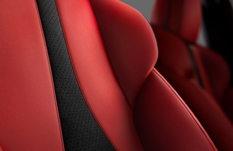 Red seats inside the 2021 Acura ILX A-Spec with Premium Package