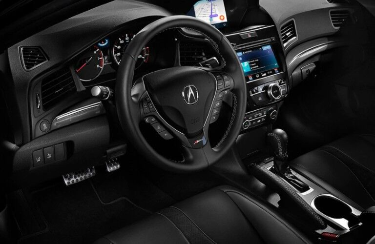 Steering wheel inside the 2021 Acura ILX A-Spec with Technology Package