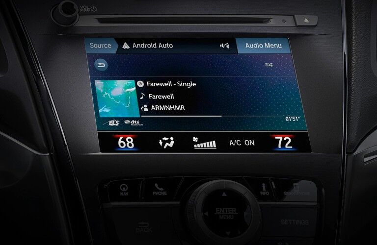 Touchscreen display inside the 2021 Acura ILX