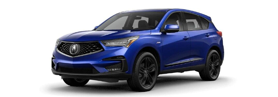 Blue 2021 Acura RDX A-Spec Package
