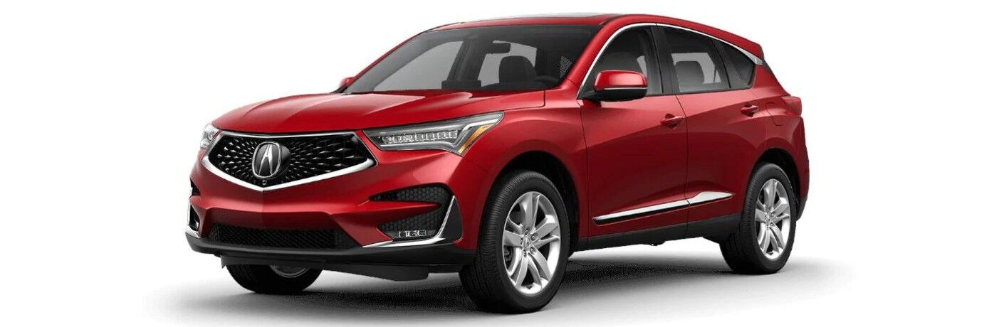 Red 2021 Acura RDX Advance Package