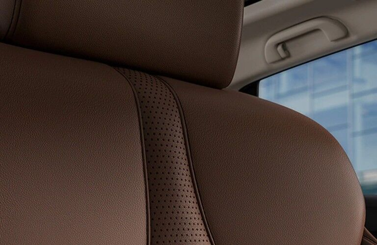 Close up of the brown Milano leather inside the 2021 Acura RDX Technology Package