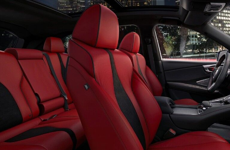 Red seats inside the 2021 Acura RDX