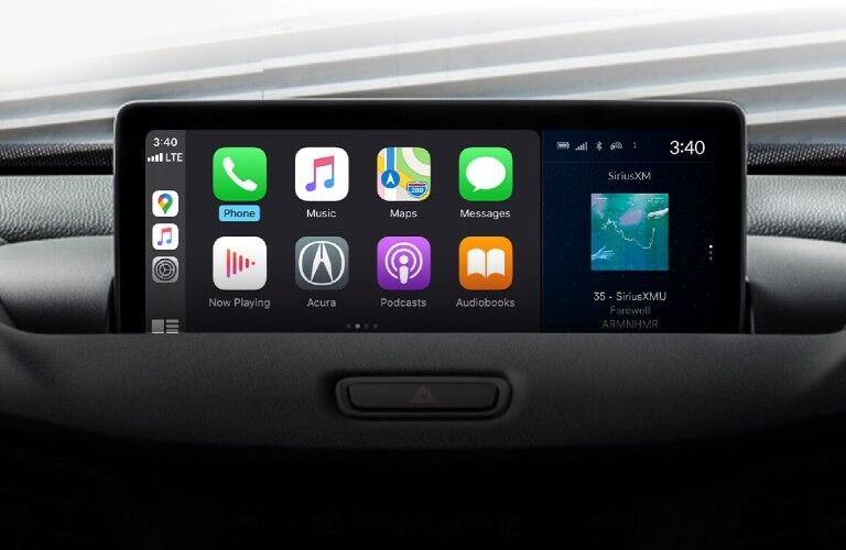 Touchscreen display inside the 2021 Acura TLX Technology Package