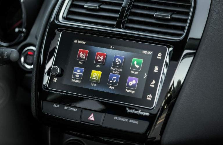 A photo of the touchscreen interface that is standard with the 2018 Outlander Sport