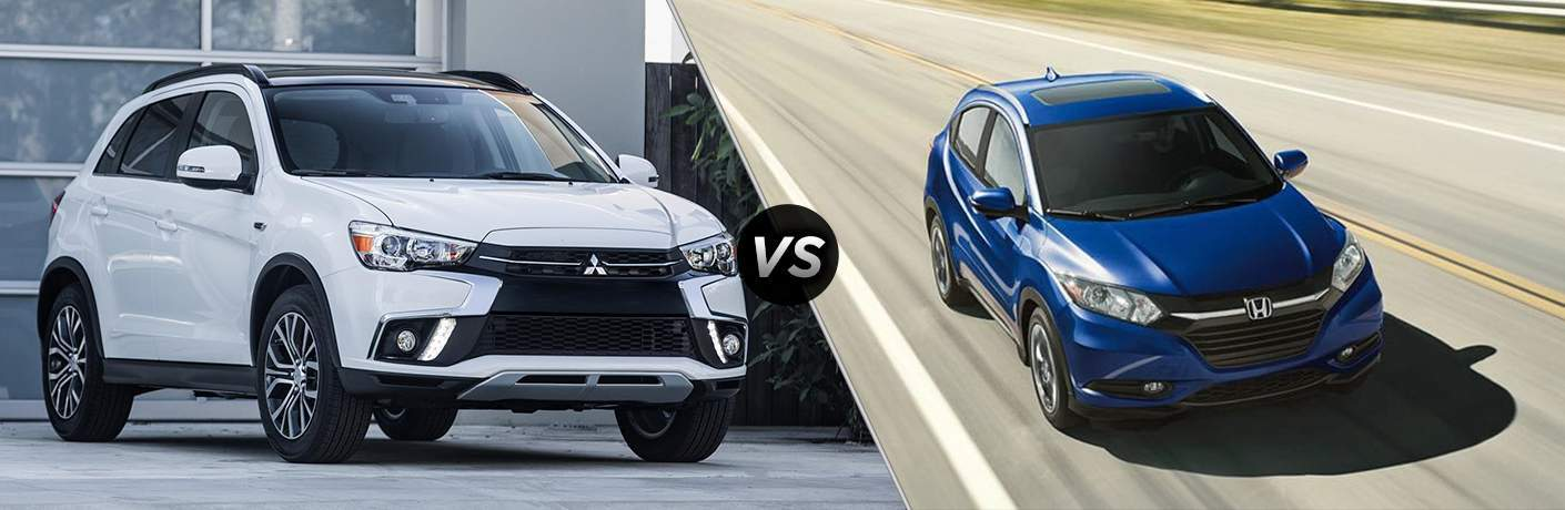 A side-by-side comparison of the 2018 Mitsubishi Outlander Sport vs. 2018 Honda HR-V