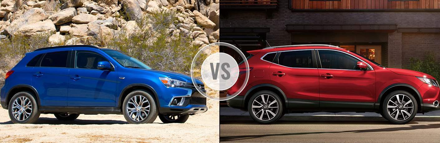 A side-by-side comparison of the 2018 Mitsubishi Outlander Sport vs. 2018 Nissan Rogue Sport