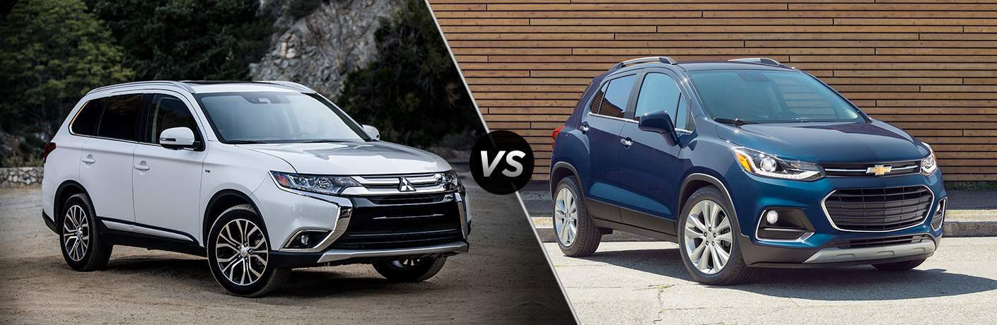 A side-by-side comparison of the 2018 Mitsubishi Outlander vs. 2018 Chevy Trax
