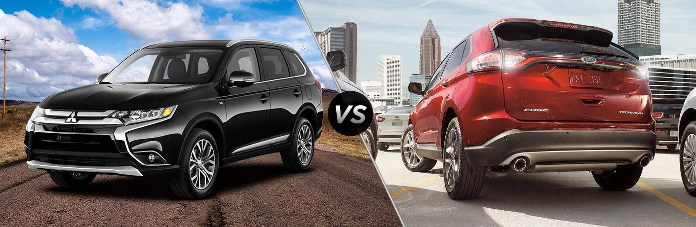 A side-by-side comparison of the 2018 Mitsubishi Outlander vs. 2018 Ford Edge