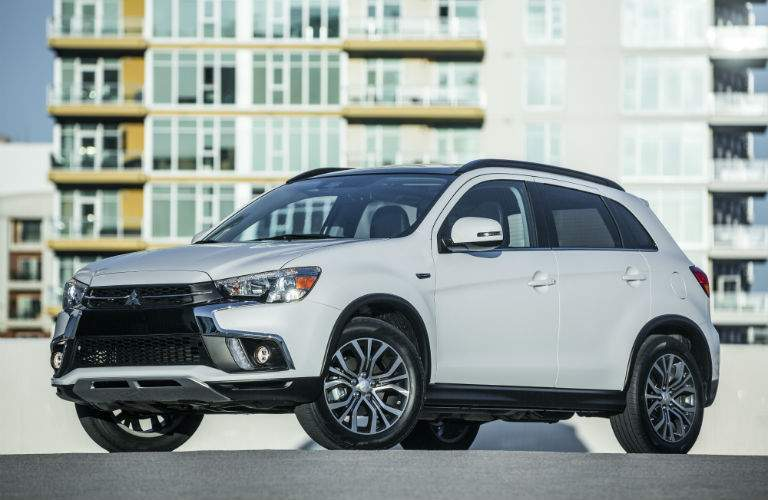 A photo of a left quarter view of the 2018 Mitsubishi Outlander Sport