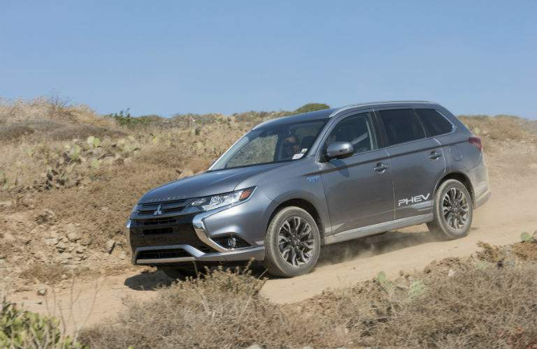The hybrid system used in the 2018 Outlander PHEV was tested in many off-road races