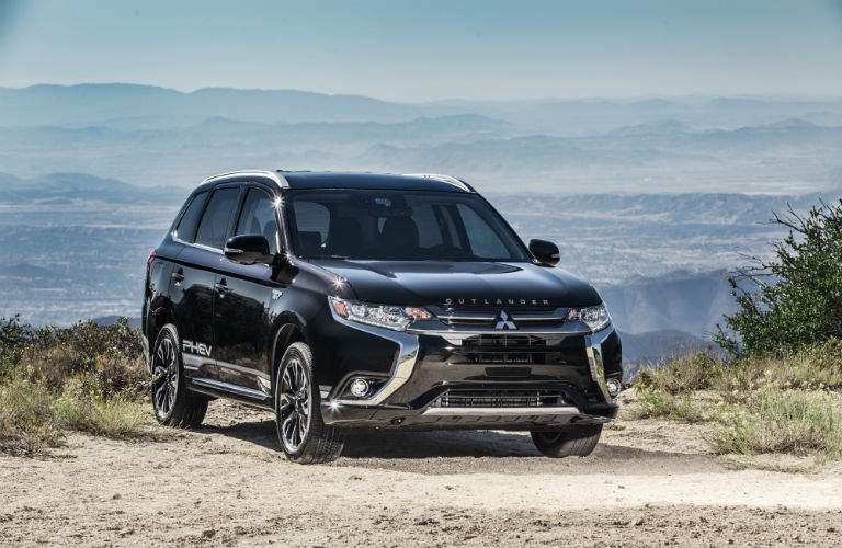 A front quarter view of the Mitsubishi Outlander PHEV