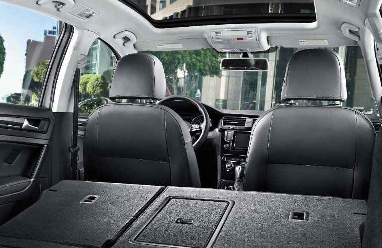 2017 Volkswagen Golf SportWagen Folding Rear Seats