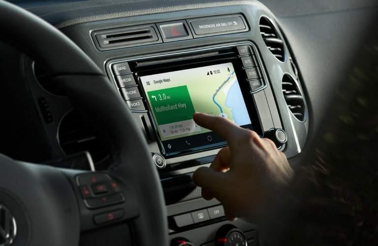 Infotainment screen of 2017 Volkswagen Tiguan Limited