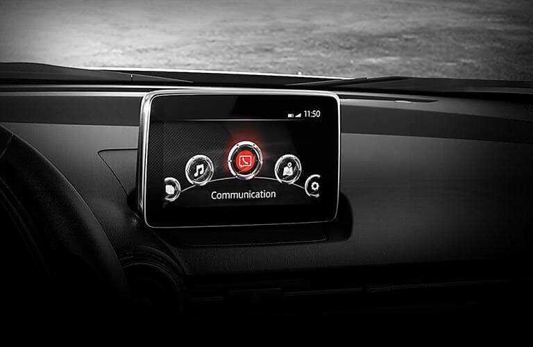 2017 mazda cx-3 infotainment screen on dashbaord