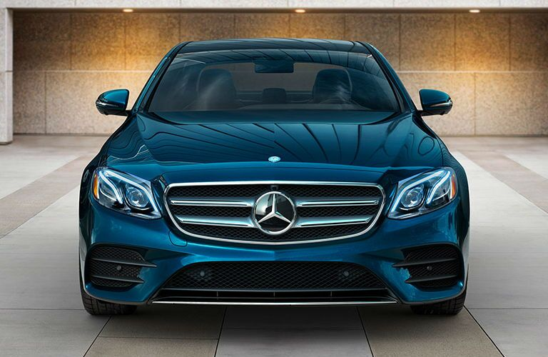 Turquoise 2017 Mercedes- Benz E-Class Front End