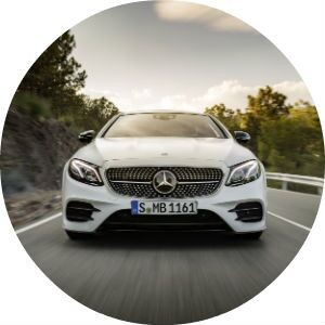 white 2018 Mercedes-Benz E-Class Coupe front grille