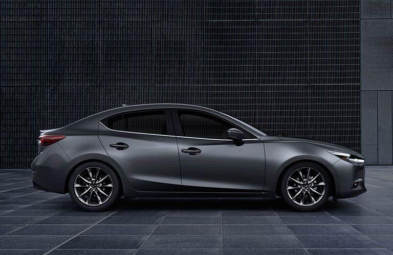 2018 Mazda3 exterior in gray side profile