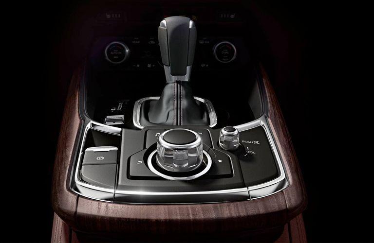 Closeup of gear shift in 2019 Mazda CX-9