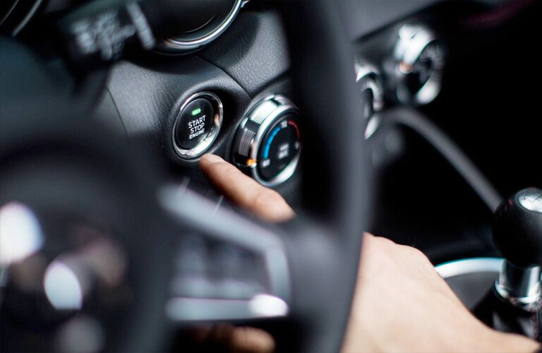 2019 Mazda MX-5 Miata RF push-to-start function