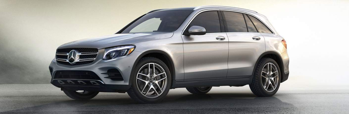 Mercedes-Benz GLC PArked Over Cream Background