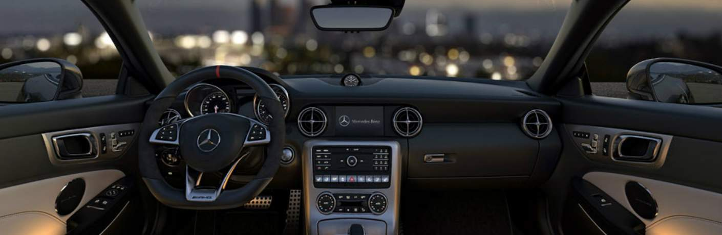Interior and Command Center Inside the Mercedes-Benz SLC