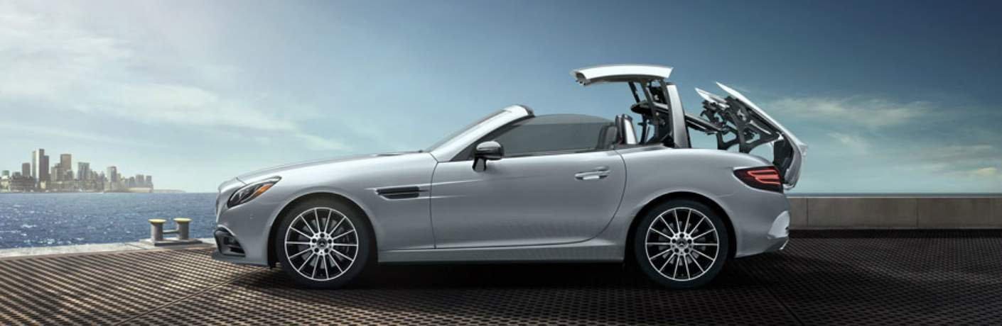 Top of the Mercedes-Benz SLC Folding Down