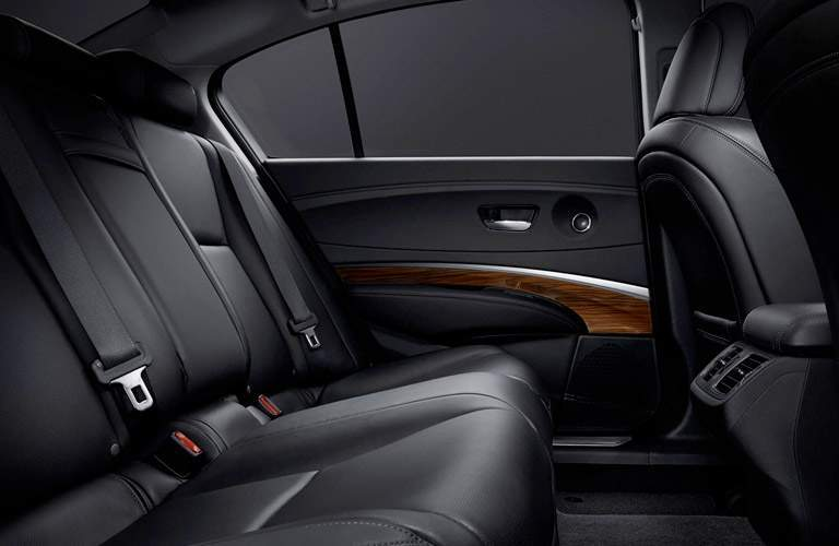 2017 Acura RLX seating in back