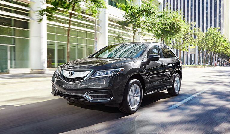 grey 2017 Acura RDX in the city