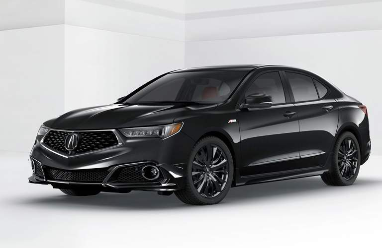illustration of a black 2018 Acura TLX