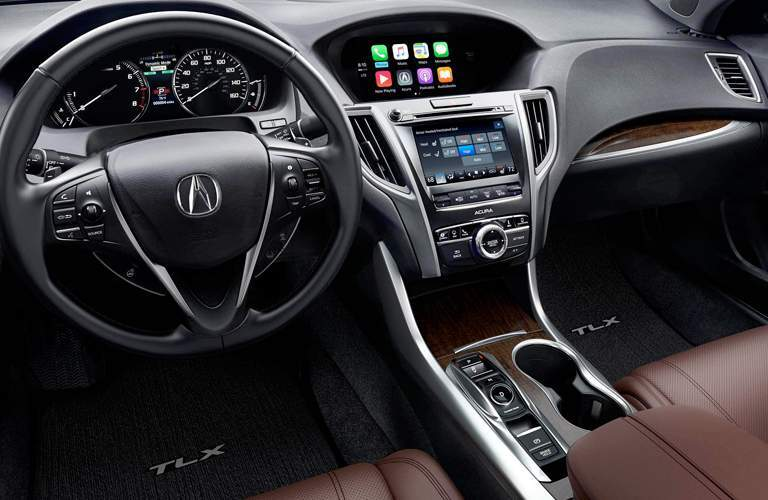 front dashboard and infotainment displays of the 2018 Acura TLX