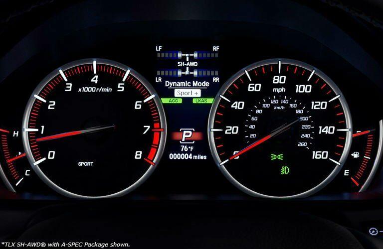 2018 Acura TLX model speedometer