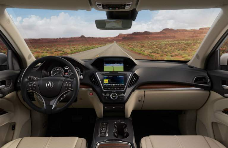 interior front of the 2018 Acura MDX