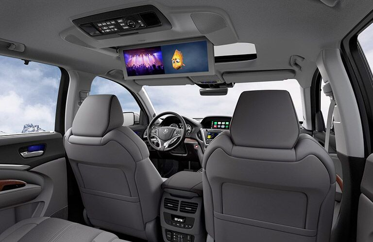 2019 Acura MDX rear seat entertainment system