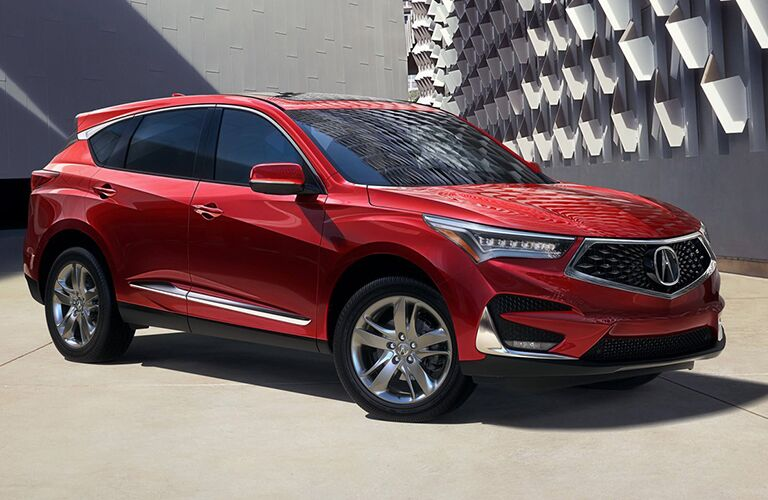 2019 Acura RDX in red side profile